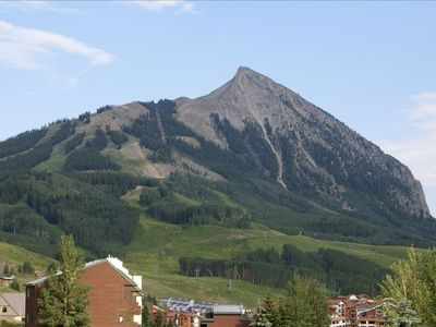 View Mt. Crested Butte From Lvg. Rm. Deck; Note Ski Runs and Lifts