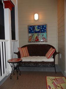 Another sitting area on screened porch of master BR