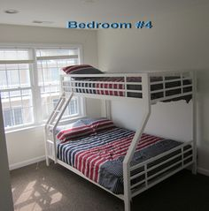 Captains View Villas townhome photo - Top Floor Bedroom. Sleeps 3 adults