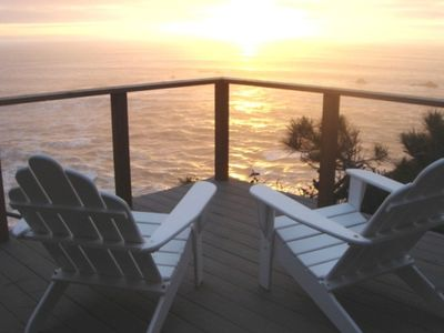 Deck overlooking ocean