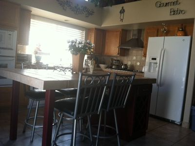 Summerlin house rental - Large Kitchen with New GE Refrigerator Filtered Ice and Water.