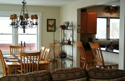 Beautiful Dining room adjoining Kitchen with great views of the Mountain.