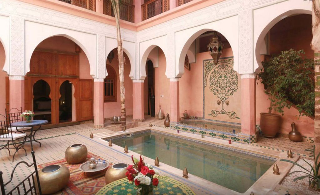 riad luxury with swimming pool hammam spa vrbo. Black Bedroom Furniture Sets. Home Design Ideas