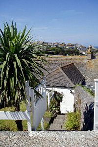 St Ives cottage rental - The rear entrance to Porth Enys.