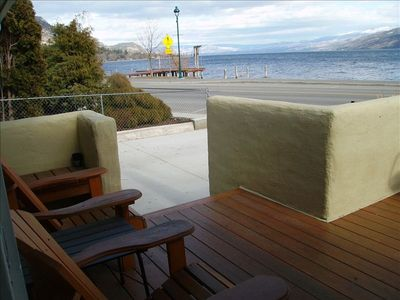 Your Home Away from Home in Peachland - the front deck