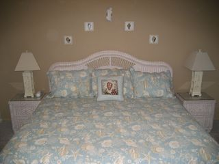 St. Augustine Beach condo photo - Coastal Decor: Master bedroom