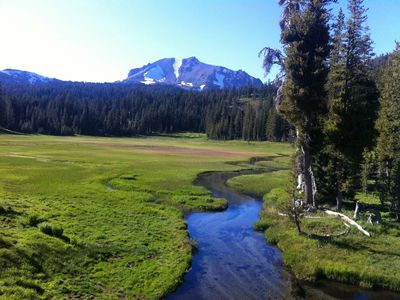 Lassen Peak from King's Creek meadow