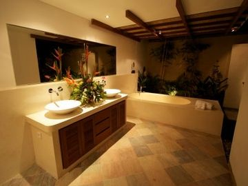 Master bathroom with Terrazzo and natural stone finishing