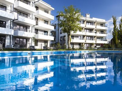 Large apartment, pool view, 500 m to the beach, Baltic Sea at Kolobrzeg