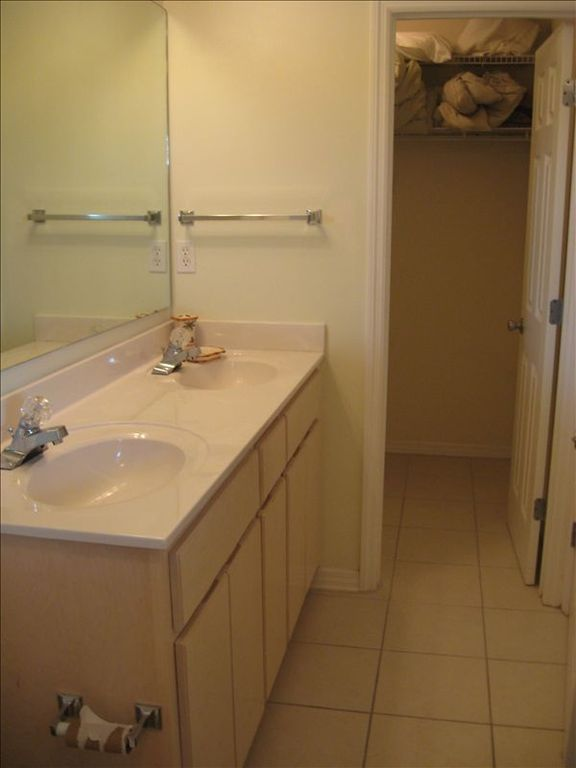 Upgraded Master Bath & View of Walk-in Closet