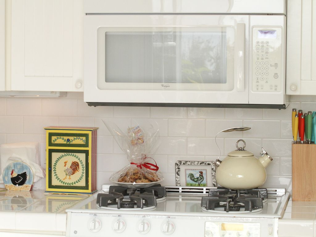Kitchen stocked with delights are fully equipped with everything.
