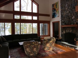 Huletts Landing house photo - Living room with great North view.