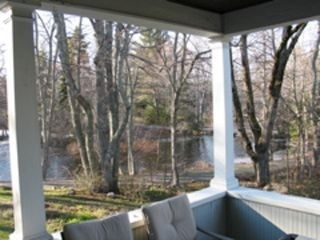 Screened in porch with propane grill