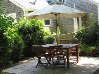 Edgartown house photo - Main Cottage - Patio For Outdoor Dining