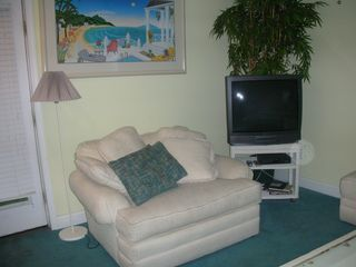 Dewey Beach house photo - Opposite end of main living room -- note door to backyard deck