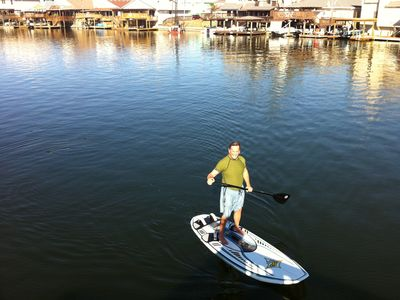 North Padre Island house rental - Some of the activities off of our dock.