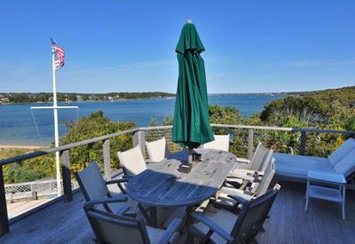 Second Floor Mahogany Deck Has Dining & Relaxing Areas With Commanding Waterviews