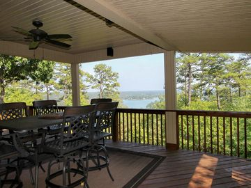 Another view of the lake from the covered deck.