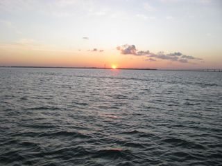 South Padre Island condo photo - Evening sunset