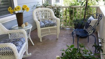 Folsom house rental - The front porch is a perfect place to sit and listen to the Summer Concerts