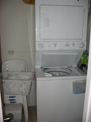 Playa del Coco condo photo - En-Suite laundry on the main level across from the bathroom. Very convenient.