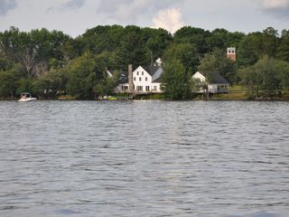 White Lake house photo - Photo of the house from White Lake. This house is lakefront and has a large yard