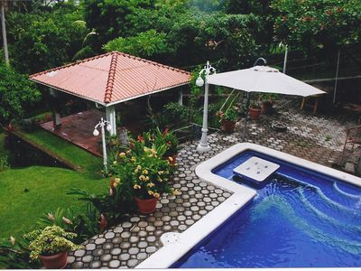 Pool with gazebo (hammocks available for use)