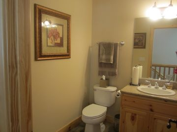 Guest bathroom upstairs