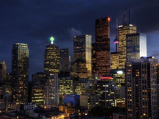 Toronto condo photo - nightsview of skyline