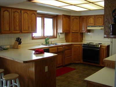 Big Arm house rental - Main house kitchen