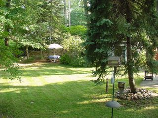 Muskegon cottage photo - Croquet,Ladder Toss, Or Badminton then off to the Beach