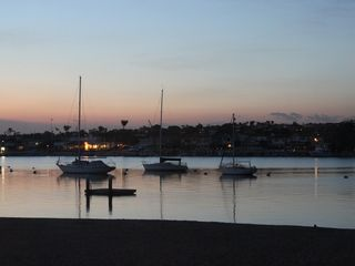 Newport Beach townhome photo - Sunset in front of property