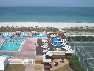 Great direct view of Gulf, pool, and tennis court