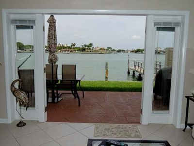 Looking out our french doors onto your own private patio.