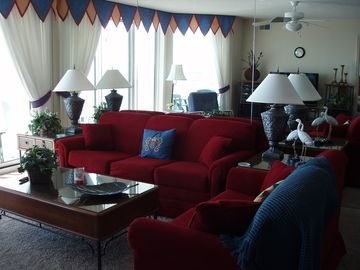 Cherry Grove Beach condo rental - Living Room With Balcony Access