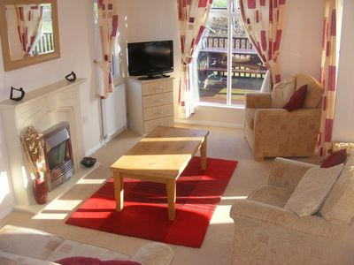 Padstow cabin rental - Living room