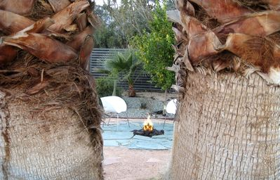 the 2nd firepit near the hot tub