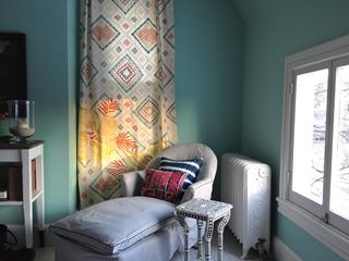 Rhinebeck house photo - Lounge by the window in the blue bedroom which gets east and north light