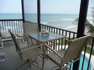 Satellite Beach condo photo - Screened Porch Overlooking Ocean
