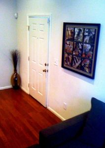 Entryway with Art and Luxury Sofa