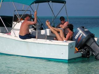 Fish, snorkel, relax, and visit nearby islands in your own rental boat. - Spanish Wells villa vacation rental photo