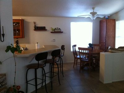 Breakfast Bar and separate eating area