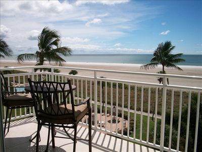 Private Balcony w/ table/chairs for perfect Beach, Gulf, Pool & Sunset views