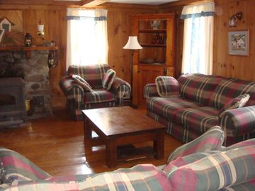 Large Living Room with Woodstove