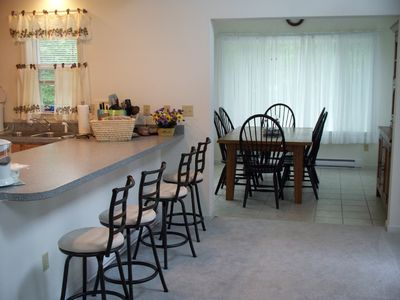 Kitchen/Dining Room with breakfast bar