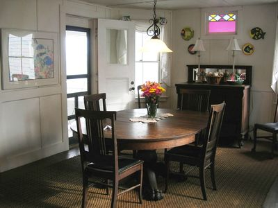 Dining Room offers plenty of seating and also opens to porch