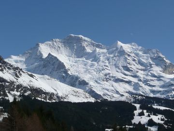 Famous Jungfrau mountains from chalet