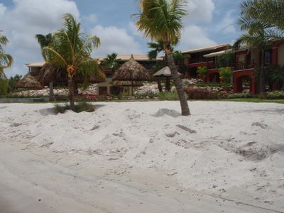 A private resort beach with perfect white sand and no crowds!