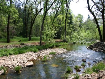 Stream on the property for swimming, fishing, exploring or just enjoying.