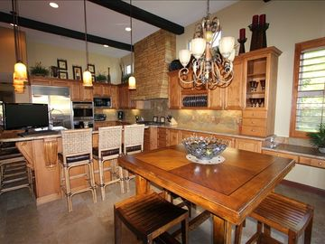 Gourmet kitchen with all state of the art appliances designed for entertaining.